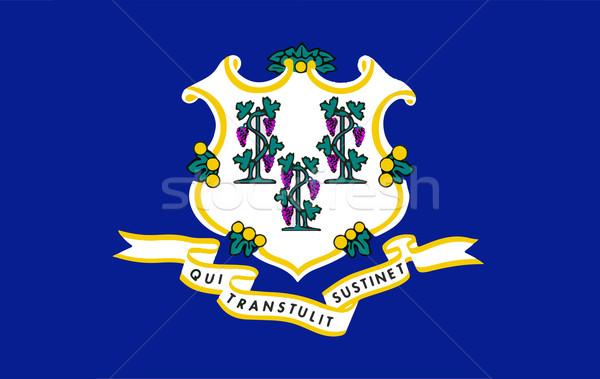 Zászló Connecticut fóka USA fehér rajz Stock fotó © Bigalbaloo