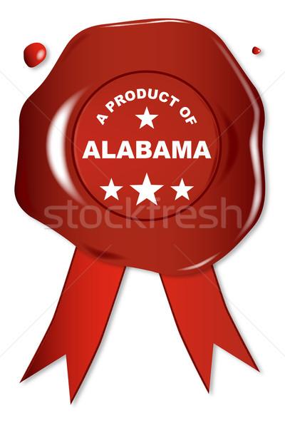 продукт Алабама воск печать текста красный Сток-фото © Bigalbaloo
