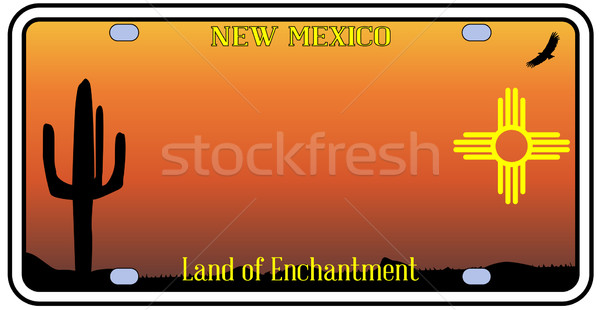 New Mexico License Plate Stock photo © Bigalbaloo