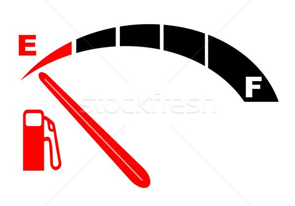 Foto stock: Ejecutando · vacío · automóvil · indicador · de · combustible · gas