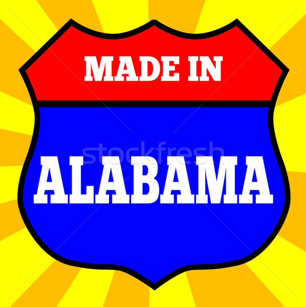 Made In Alabama Shield Stock photo © Bigalbaloo