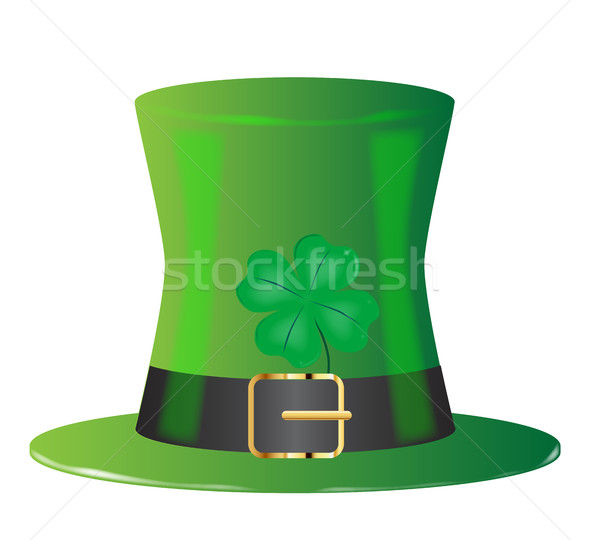 Irish Green Top Hat Stock photo © Bigalbaloo