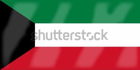 Bandeira Kuweit Árabe liga país Foto stock © Bigalbaloo