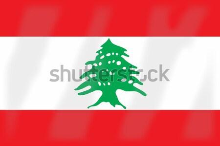 Сток-фото: флаг · Ливан · арабских · лига · стране