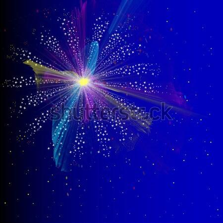 Firework Stock photo © Bigalbaloo