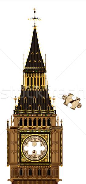 Manquant pièce détaillée illustration Big Ben Photo stock © Bigalbaloo