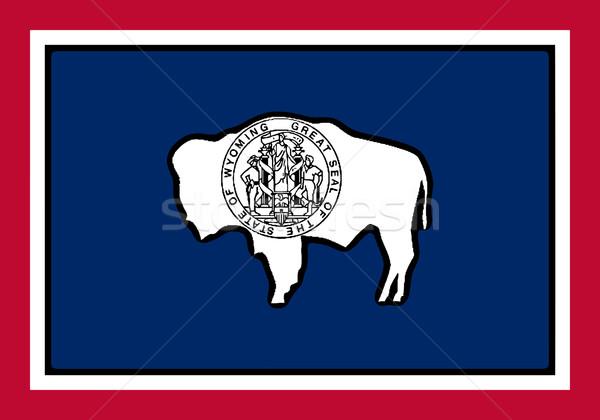 Wyoming bandera EUA arte gráfico Estados Unidos Foto stock © Bigalbaloo