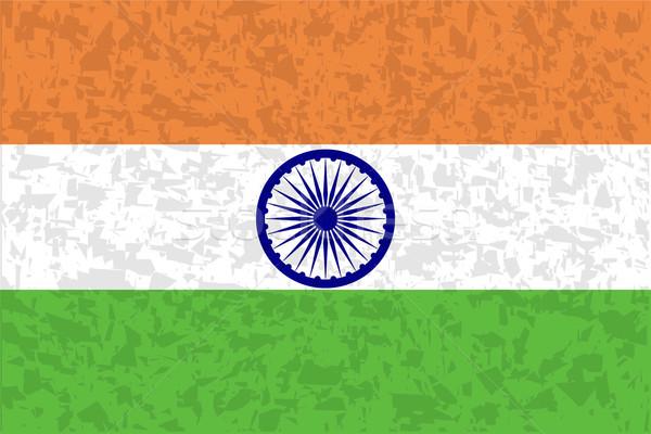 Flag of India Stock photo © Bigalbaloo