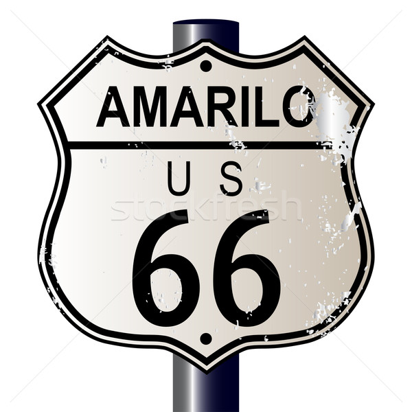 Amarillo Route 66 Sign Stock photo © Bigalbaloo