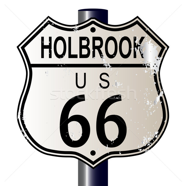 Holbrook Route 66 Sign Stock photo © Bigalbaloo