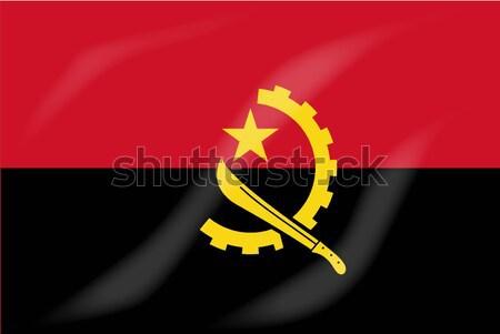 Ангола флаг африканских стране Африка Сток-фото © Bigalbaloo