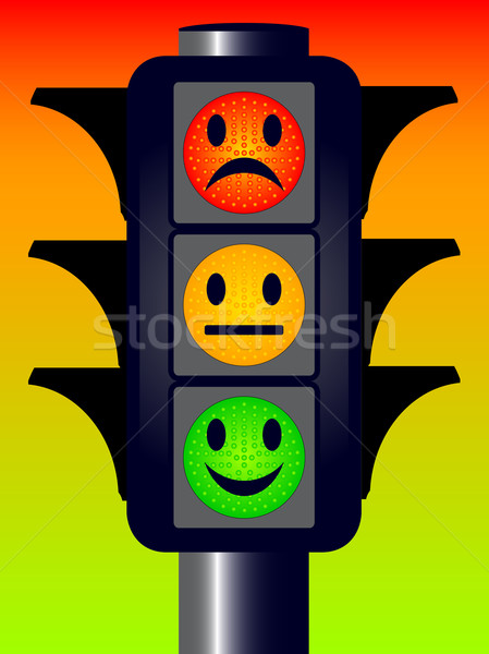 Face Traffic Lights Stock photo © Bigalbaloo