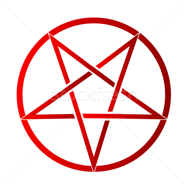 Pentagram Stock photo © Bigalbaloo