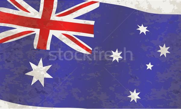 Flag of Australia Grunge Stock photo © Bigalbaloo
