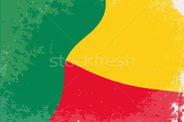 Benin bandiera grunge african paese grafica Foto d'archivio © Bigalbaloo