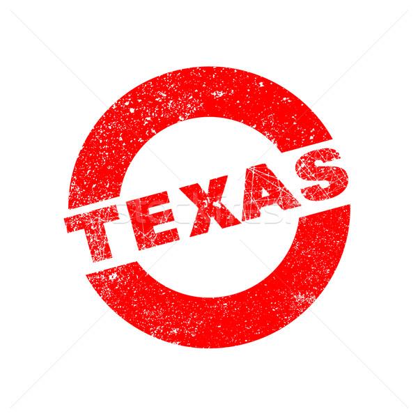 Borracha nosso carimbo Texas texto Foto stock © Bigalbaloo