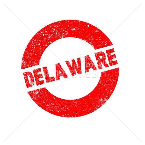 Kauçuk mürekkep damga Delaware metin Stok fotoğraf © Bigalbaloo