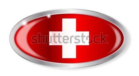 Swiss Flag Oval Button Stock photo © Bigalbaloo
