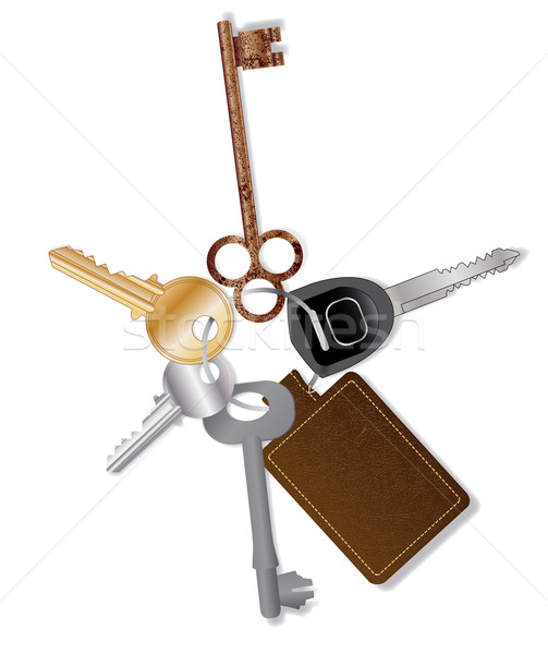 Key Collection With Fob Stock photo © Bigalbaloo