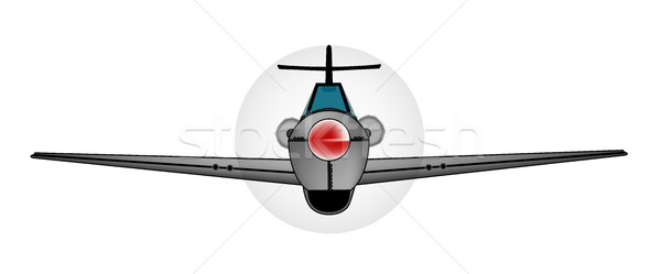 Old Style Fighter Aircraft Stock photo © Bigalbaloo