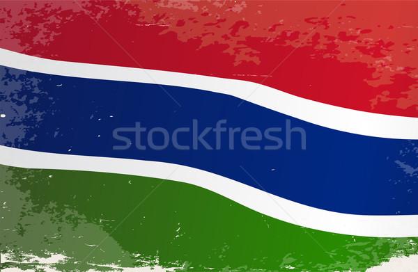 ガンビア フラグ グランジ アフリカ 国 アフリカ ストックフォト © Bigalbaloo