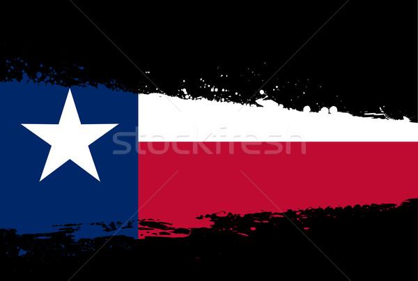 Texas Flag Splash Stock photo © Bigalbaloo