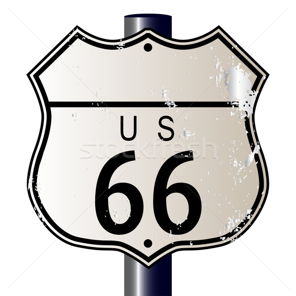 Blank Route 66 Sign Stock photo © Bigalbaloo