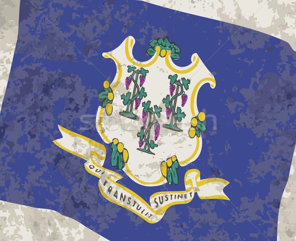 Bandeira Connecticut grunge EUA efeito gráfico Foto stock © Bigalbaloo