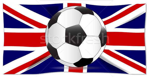 британский флаг футбола типичный Футбол британский флаг флаг Сток-фото © Bigalbaloo