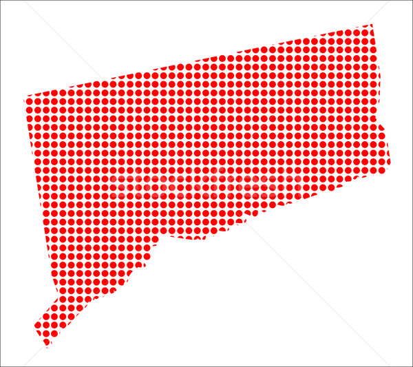 Red Dot Map of Connecticut Stock photo © Bigalbaloo