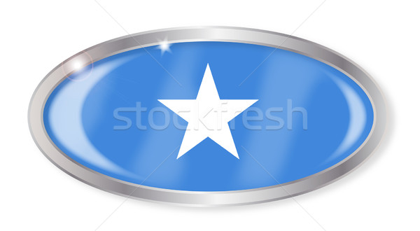 Somalie pavillon ovale bouton argent isolé Photo stock © Bigalbaloo