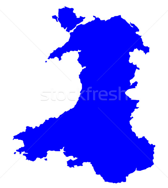 Silhouette Map Of Wales Stock photo © Bigalbaloo