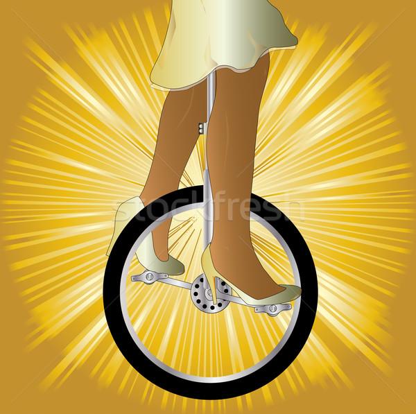 Unicycle On Golden Splash Stock photo © Bigalbaloo