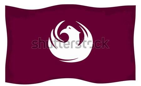 Fénix ciudad bandera dibujo Arizona ilustración Foto stock © Bigalbaloo