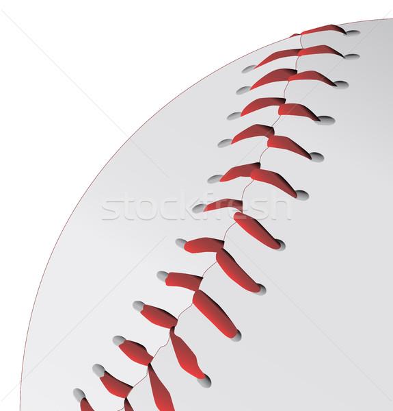 Baseball czerwony sportu zespołu piłka Zdjęcia stock © Bigalbaloo