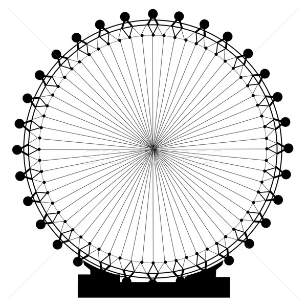 Stock photo: Fairground Big Wheel