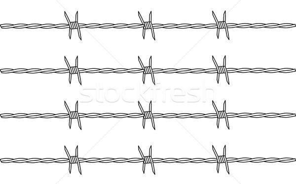 Barbed Wire Stock photo © Bigalbaloo
