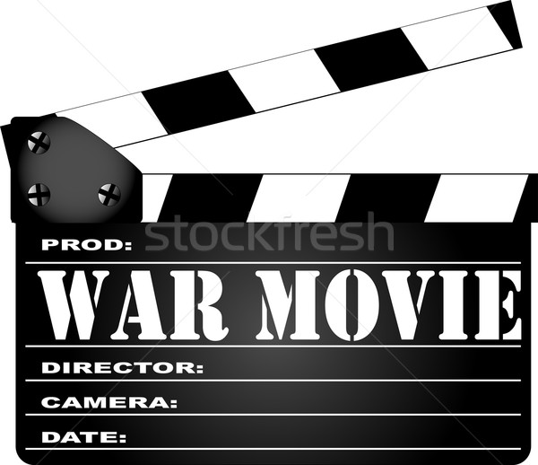 War Movie Clapperboard Stock photo © Bigalbaloo