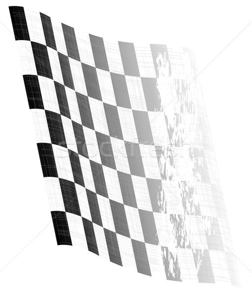 Waving Chequered Flag Stock photo © Bigalbaloo
