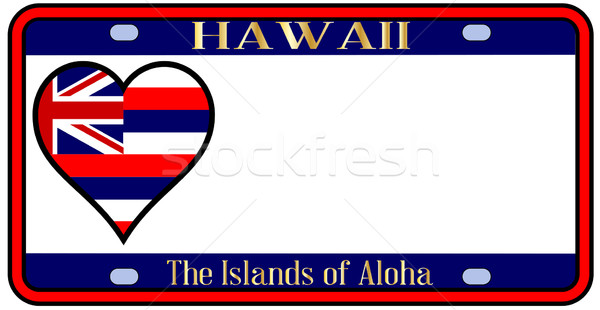 Hawaii State License Plate Stock photo © Bigalbaloo