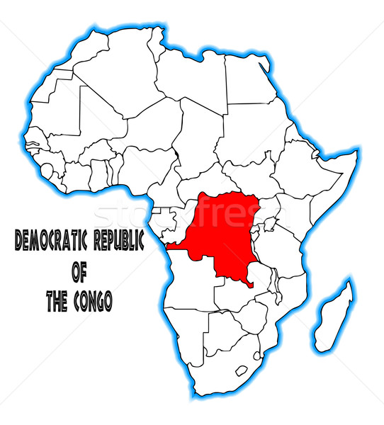 Democratic Republic of the Congo Stock photo © Bigalbaloo