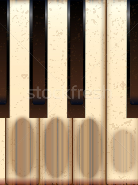 Old Worn Piano Keys Stock photo © Bigalbaloo
