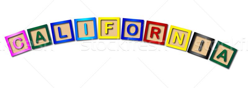 California litery kolekcja pisownia biały Zdjęcia stock © Bigalbaloo