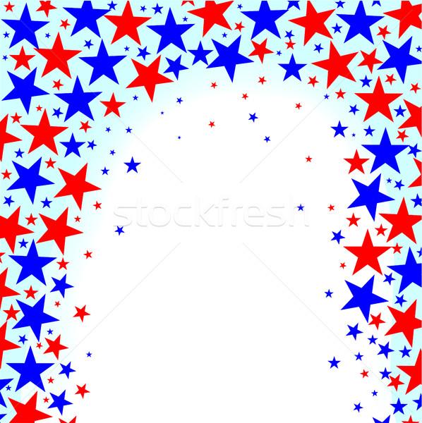 Rosso bianco blu stelle Foto d'archivio © Bigalbaloo