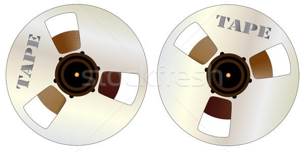 Reels of Magnetic Tape Stock photo © Bigalbaloo