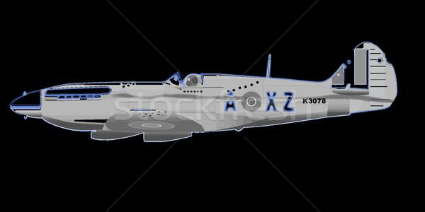 世界 2 戦闘機 航空機 機関銃 ダメージ ストックフォト © Bigalbaloo