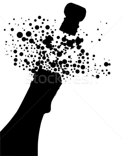 Champagne Bottle Silhouette Stock photo © Bigalbaloo