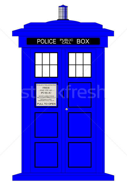 British Police Box Stock photo © Bigalbaloo