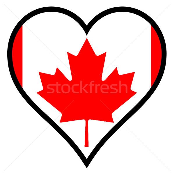 愛 カナダ カナダの国旗 中心 白 ストックフォト © Bigalbaloo