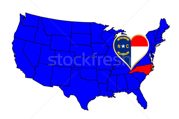 State of North Carolina Stock photo © Bigalbaloo